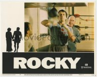 4a777 ROCKY LC #6 1977 Burgess Meredith trains Sylvester Stallone in gym, boxing classic!