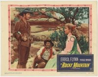 4a778 ROCKY MOUNTAIN LC #4 1950 part renegade part hero Errol Flynn stares at Patrice Wymore!