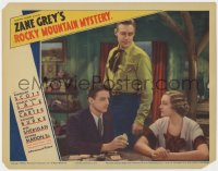 4a779 ROCKY MOUNTAIN MYSTERY LC 1935 Randolph Scott watches Kathleen Burke glare at man with cards!