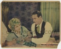 4a783 ROMANCE OF THE UNDERWORLD LC 1928 c/u of Ben Bard smiling at Helen Lynch laying on bed!