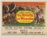4a140 ROOTS OF HEAVEN TC 1958 directed by John Huston, Errol Flynn & sexy Julie Greco in Africa!