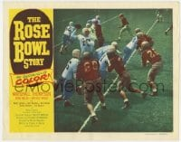 4a786 ROSE BOWL STORY LC #3 1952 great football game image of quarterback about to throw ball!