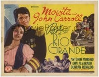 4a141 ROSE OF THE RIO GRANDE TC R1948 romantic close up of soldier John Carroll & pretty Movita!