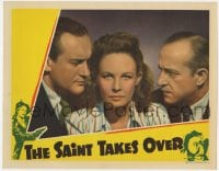 4a792 SAINT TAKES OVER LC 1940 close up of Wendy Barrie between George Sanders & Jonathan Hale!