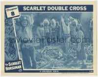 4a797 SCARLET HORSEMAN chapter 8 LC 1946 Paul Guilfoyle, Universal serial, Scarlet Double Cross!
