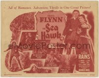 4a145 SEA HAWK TC R1947 Michael Curtiz directed, swashbuckler Errol Flynn, Brenda Marshall!