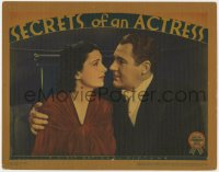 4a803 SECRETS OF AN ACTRESS LC 1938 close up of Ian Hunter with his arm around pretty Kay Francis!