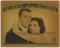 4a802 SECRETS OF AN ACTRESS LC 1938 best portrait of sexy Kay Francis & George Brent embracing!