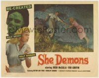 4a810 SHE DEMONS LC 1958 beautiful Irish McCalla & others try to escape the half-beast half-woman!