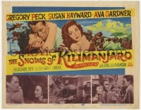 4a153 SNOWS OF KILIMANJARO TC 1952 art of Gregory Peck, Ava Gardner & SusanHayward in Africa!