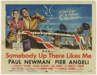 4a155 SOMEBODY UP THERE LIKES ME TC 1956 Paul Newman as boxing champion Rocky Graziano!