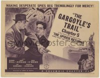 4a158 SPIDER RETURNS chapter 5 TC 1941 Warren Hull as the famous crime smasher, Gargoyle's Trail!