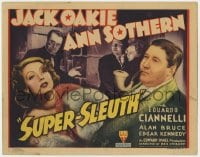 4a164 SUPER-SLEUTH TC 1937 movie detective Jack Oakie, sexy Ann Sothern, serial killer Ciannelli!