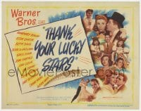 4a166 THANK YOUR LUCKY STARS TC 1943 Warner Bros. all-star patriotic musical, pretty girls!