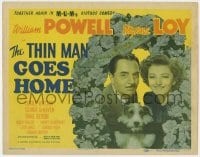 4a168 THIN MAN GOES HOME TC 1944 William Powell as Nick Charles, Myrna Loy & Asta the dog too!