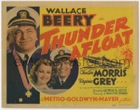 4a170 THUNDER AFLOAT TC 1939 sailors Wallace Beery & Chester Morris, pretty Virginia Grey!