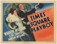 4a172 TIMES SQUARE PLAYBOY TC 1936 art of Warren William & June Travis in New York City, very rare!