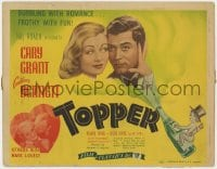4a173 TOPPER TC R1944 Constance Bennett, Cary Grant, wacky art of cupid on champagne bottle!
