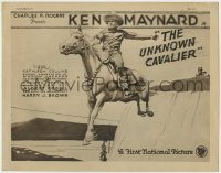 4a176 UNKNOWN CAVALIER TC 1926 great artwork of cowboy Ken Maynard in mid-air on his horse Tarzan!