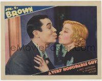 4a951 VERY HONORABLE GUY LC 1934 best close up of Joe E. Brown & Alice White about to kiss!