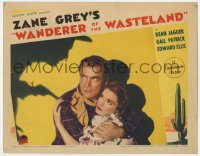 4a955 WANDERER OF THE WASTELAND LC 1935 c/u of Dean Jagger & Gail Patrick with menacing shadow!