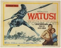 4a180 WATUSI TC 1959 Guardians of King Solomon's Mines, cool African native tribe art!
