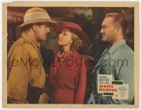 4a968 WHITE HUNTER LC 1936 June Lang stares lovingly at Warner Baxter as another man watches!