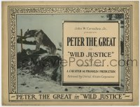4a185 WILD JUSTICE TC 1925 great image of Peter the Great German Shepherd dog, ultra rare!