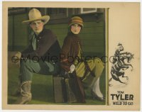 4a972 WILD TO GO LC 1926 great c/u of Tom Tyler & pretty Eugenia Gilbert sitting back to back!