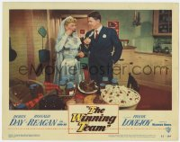 4a976 WINNING TEAM LC #3 1952 bride Doris Day & groom Ronald Reagan eating, baseball biography!