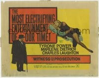 4a186 WITNESS FOR THE PROSECUTION TC 1958 Billy Wilder, Tyrone Power, Marlene Dietrich, Laughton