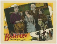 4a978 WIZARD OF THE SADDLE LC 1928 young cowboy Buzz Barton & others receiving bad news!