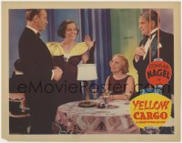 4a989 YELLOW CARGO LC 1936 Conrad Nagel in tuxedo, Eleanor Hunt & Claudia Dell in nightclub!