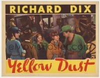 4a990 YELLOW DUST LC 1936 gold prospector Richard Dix & Leila Hyams smiling by stagecoach!