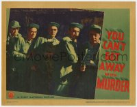 4a994 YOU CAN'T GET AWAY WITH MURDER LC 1939 c/u of Humphrey Bogart, Billy Halop & convicts, rare!