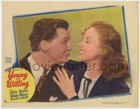 4a996 YOUNG & WILLING LC 1943 close up of Eddie Bracken making pretty Susan Hayward laugh!