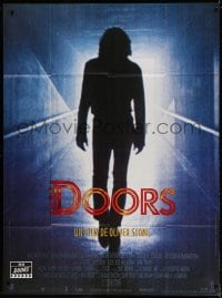 4b822 DOORS French 1p 1990 silhouette of Val Kilmer as Jim Morrison, directed by Oliver Stone!