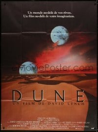 4b827 DUNE French 1p 1985 David Lynch sci-fi epic, best image of two moons over desert!