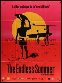 4b829 ENDLESS SUMMER French 1p R2016 John Van Hamersveld art, Bruce Brown surfing classic!