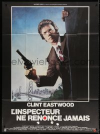 4b830 ENFORCER French 1p 1977 great art of Clint Eastwood as Dirty Harry by Jean Mascii!
