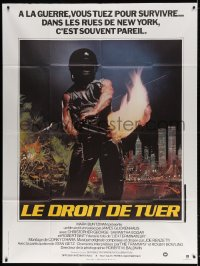 4b833 EXTERMINATOR French 1p 1982 Robert Ginty with flamethrower is the man they pushed too far!