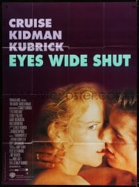 4b834 EYES WIDE SHUT French 1p 1999 Stanley Kubrick, romantic c/u of Tom Cruise & Nicole Kidman!