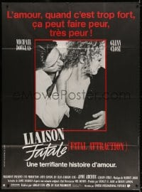 4b836 FATAL ATTRACTION French 1p 1987 Michael Douglas, Glenn Close, a terrifying love story!