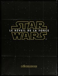 4b842 FORCE AWAKENS teaser French 1p 2015 Star Wars: Episode VII, title over starry background!