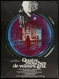 4b843 FOUR FLIES ON GREY VELVET French 1p 1973 Dario Argento's 4 Mosche di Velluto Grigio, different