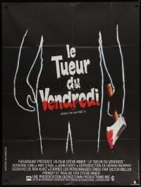 4b846 FRIDAY THE 13th PART II French 1p 1982 summer camp horror sequel, body count continues!