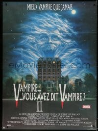 4b848 FRIGHT NIGHT 2 French 1p 1989 the suckers are back, great sexy vampire monster artwork!