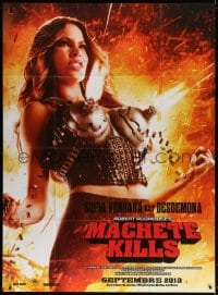 4b886 MACHETE KILLS teaser French 1p 1913 great outrageous close up of sexy Sofia Vergara!
