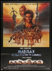 4b888 MAD MAX BEYOND THUNDERDOME French 1p 1985 Richard Amsel art of Mel Gibson & Tina Turner!
