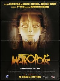 4b900 METROPOLIS advance French 1p R2011 Fritz Lang classic, Helm as the Maschinenmensch!